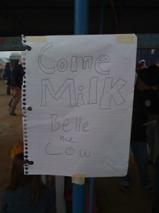 Come Milk Belle the Cow